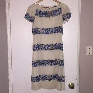 French Connection summer dress white and blue